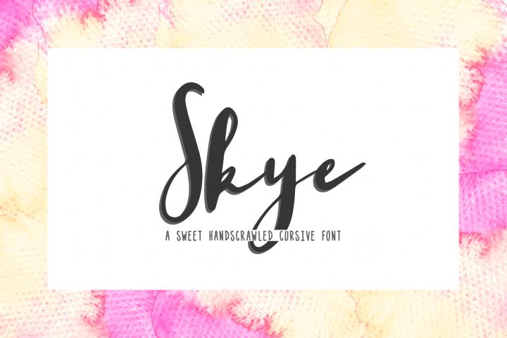 Skye - a sweet handscrawled cursive font