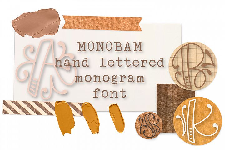 Monobam - Round Monogram Font