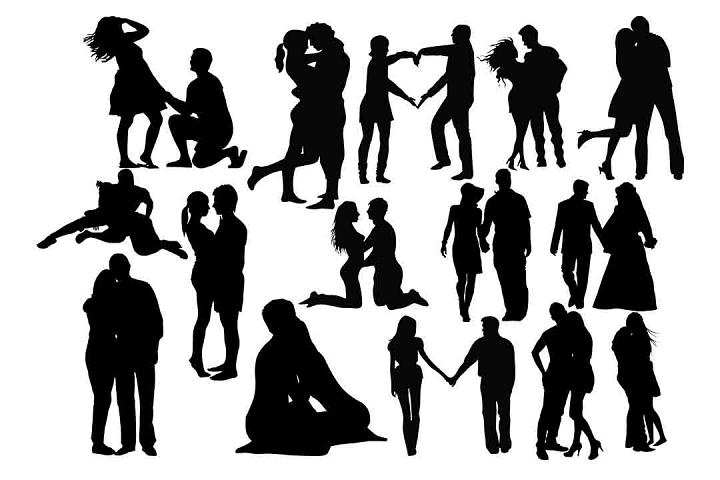 Romantic Couple SVG PNG DXF EPS AI