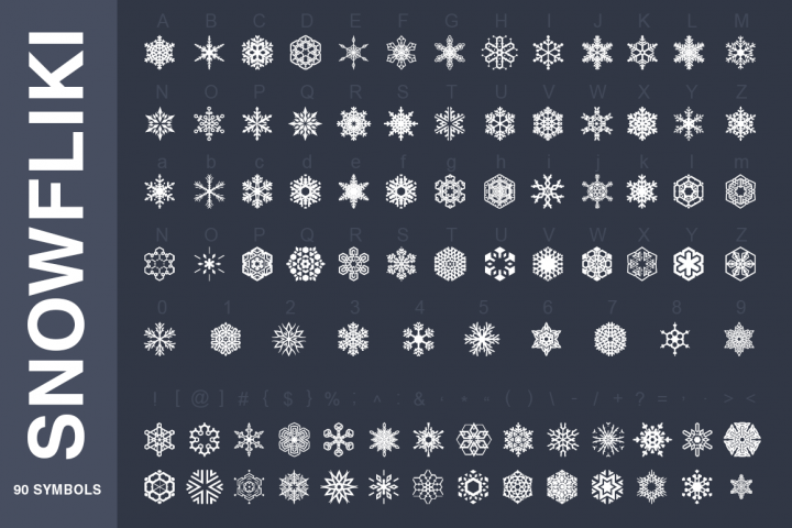 Symbols Font Collection - 450 Elements - Free Font of The Week Design 5
