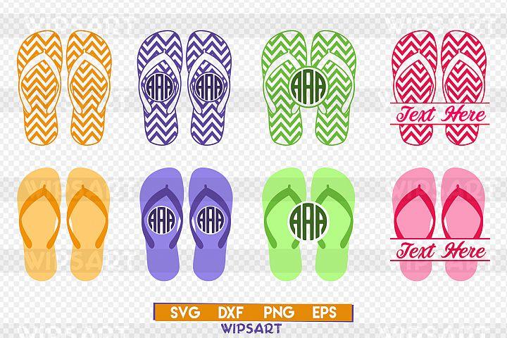 Flip flop svg, flip flop monogram svg, flip flop silhouette svg, summer svg, beach svg, beach flip flops svg, flip flops svg, png, dxf