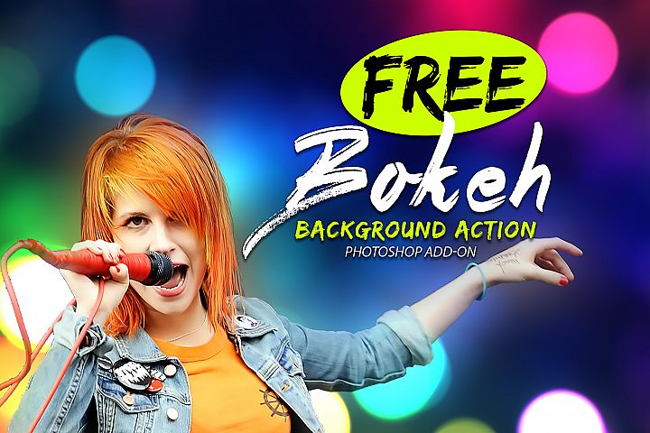 Free Bokeh Photoshop Action example 1