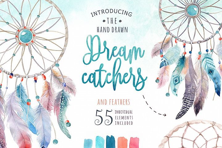 30% off Watercolor dreamcatcher III