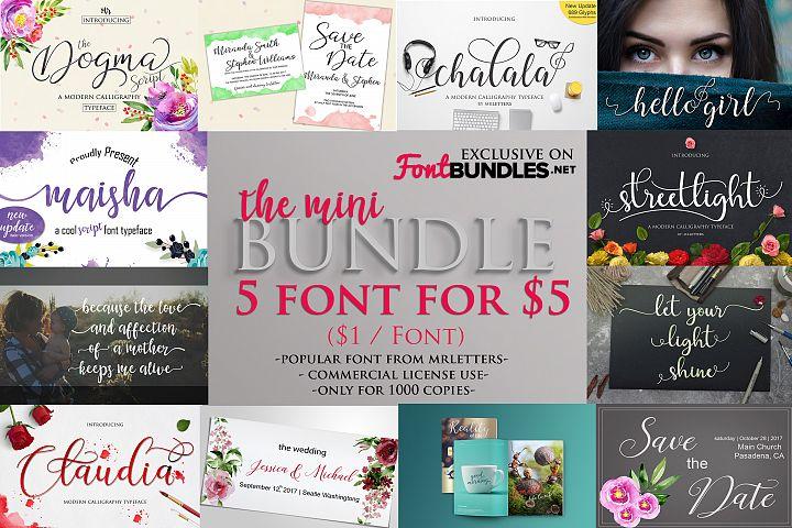The Mini Bundle $1 /font