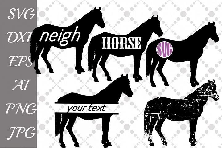 Horse Svg,FARM SVG, Farm Animal Svg,Horse Monogram Svg