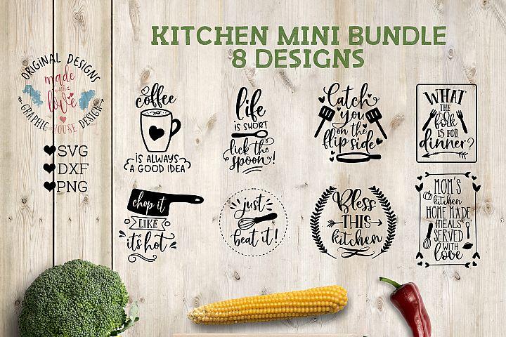 Kitchen Mini Bundle in SVG, DXF, PNG