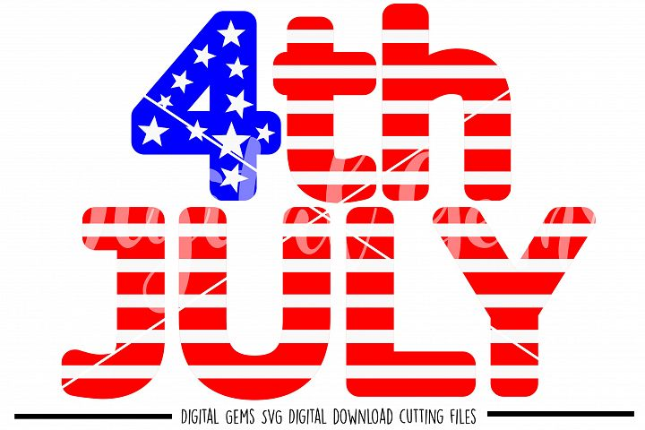 4th July SVG / PNG / EPS / DXF files