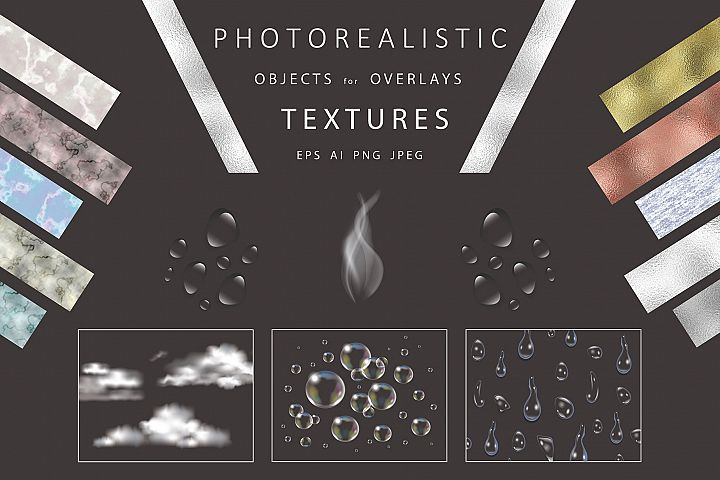 Photorealistic objects, textures.