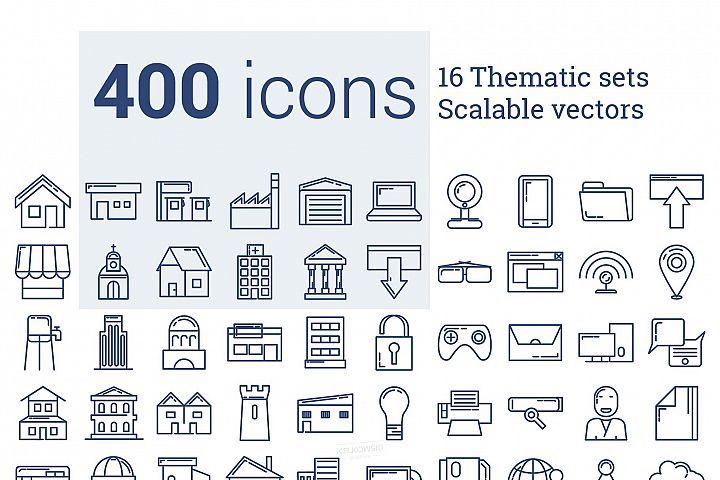 400 Modern Icons Set
