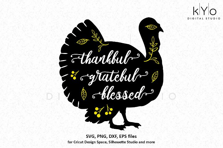 Thanksgiving Turkey decor SVG DXF PNG EPS files