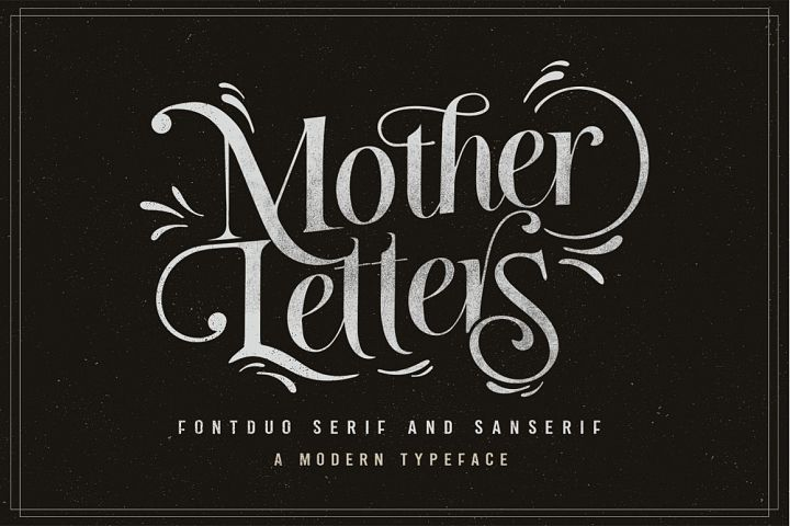 MOTHER LETTERS FONT DUO