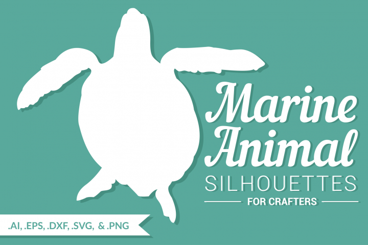 Marine Animal Silhouettes for Crafters