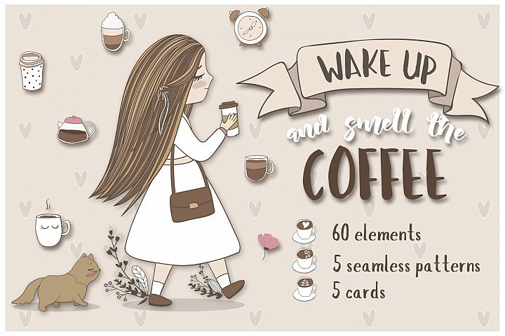 Cute coffee clipart