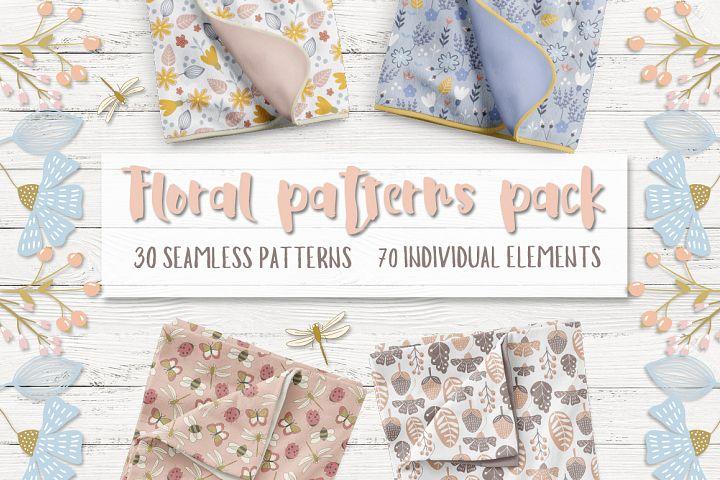 Floral patterns pack