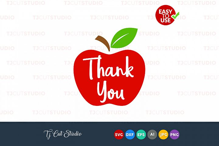 Thank you, teacher tribe svg, apple svg, Files for Silhouette Cameo or Cricut, Commercial & Personal Use.