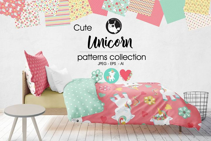 UNICORN, digital papers - Free Design of The Week Design