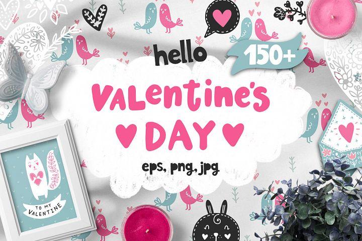 Hello Valentines Day - Clipart Set!