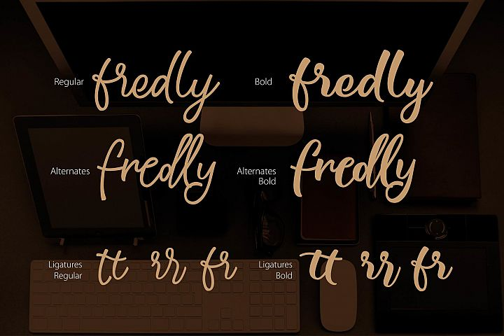 Fredly Modern Typeface - Free Font of The Week Design 6