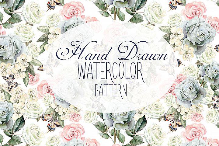 17 Hand Drawn Watercolor Pattern