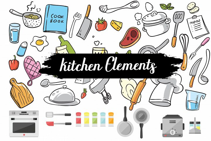 kitchen elements,kitchen,chef,chef elements,kitchen clipart,kitchen illustrations,chef clipart,chef illustrations,cookware