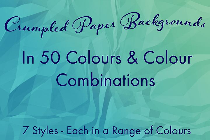 Crumpled Paper Backgrounds in a Range of Colours