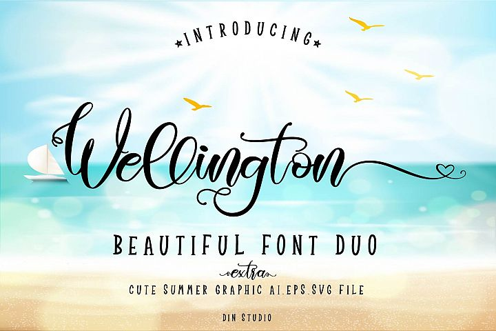 Wellington Font Duo  Extras