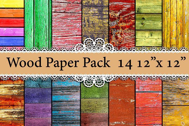 Wood digital paper pack