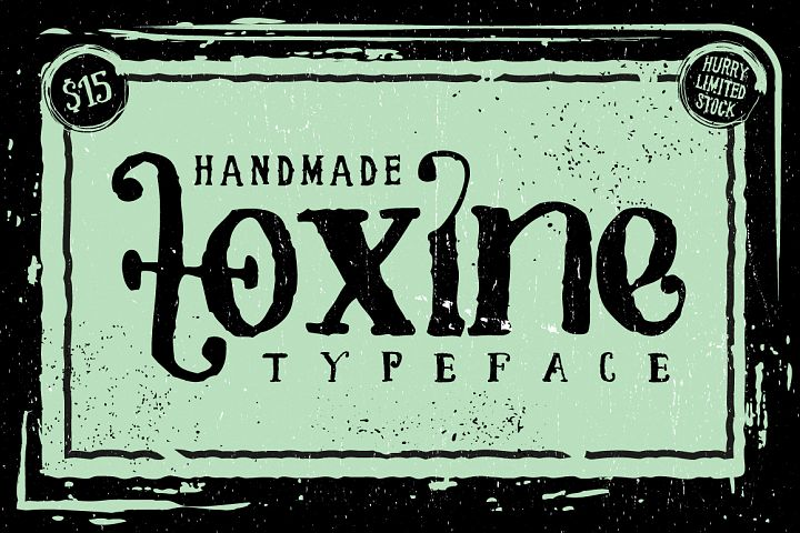 TOXINE typeface + Ornament pack