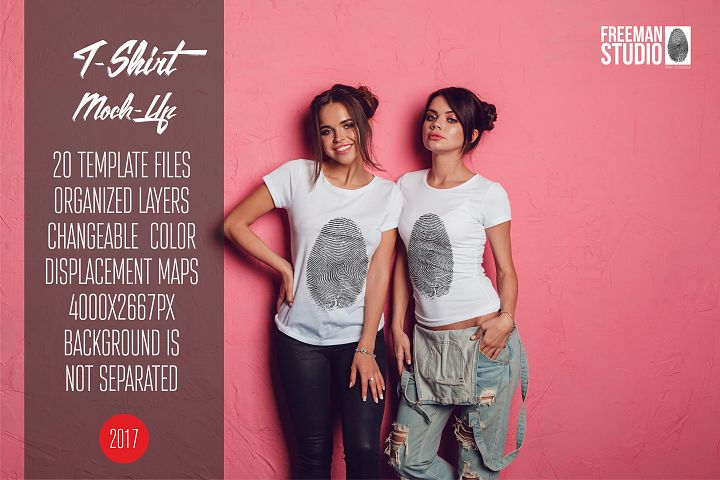 T-Shirt Mock-Up Vol.26 2017