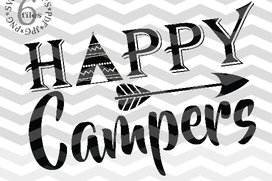 Happy campers SVG - Campers svg digital - Happy campers - Happy campers clipart - DIY- Svg - Dxf- Eps - Png -Jpg - Pdf