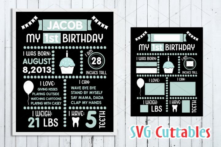 Birthday Board Cut File