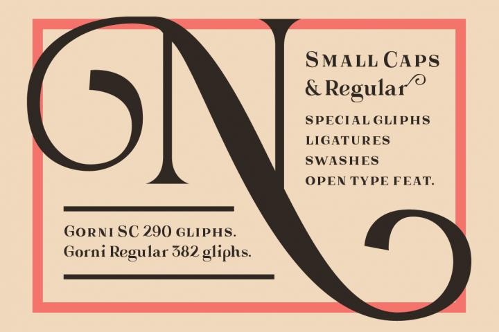 Gorni Typeface - Free Font of The Week Design 1