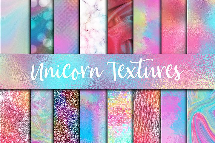Unicorn Textures Digital Paper - Free Design of The Week