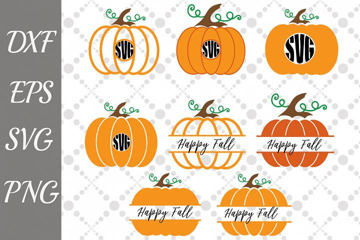 Pumpkin Svg File,PUMPKIN MONOGRAM, Halloween cut file