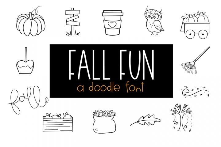 Fall Fun - A Fall / Autumn Doodles Font