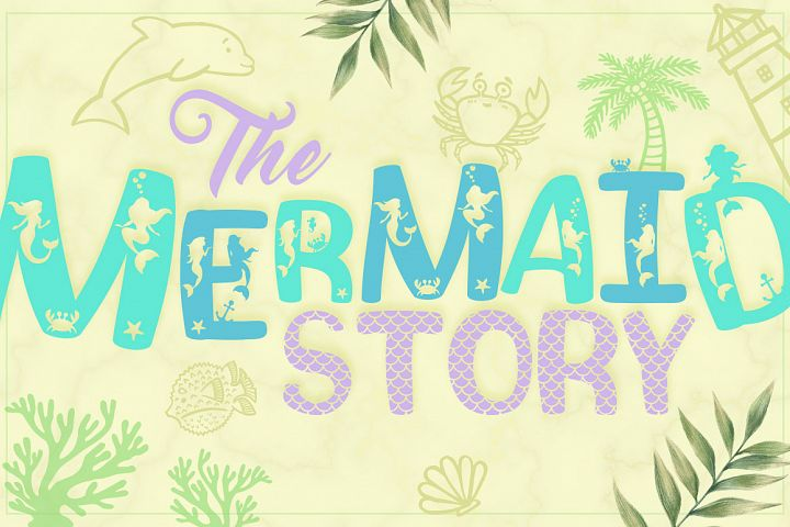 The Mermaid Story Font Duo + Extras
