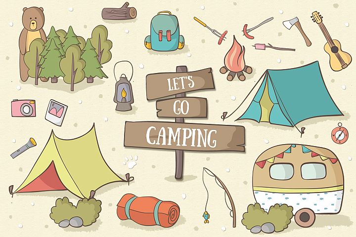 Lets Go Camping - Free Design of The Week