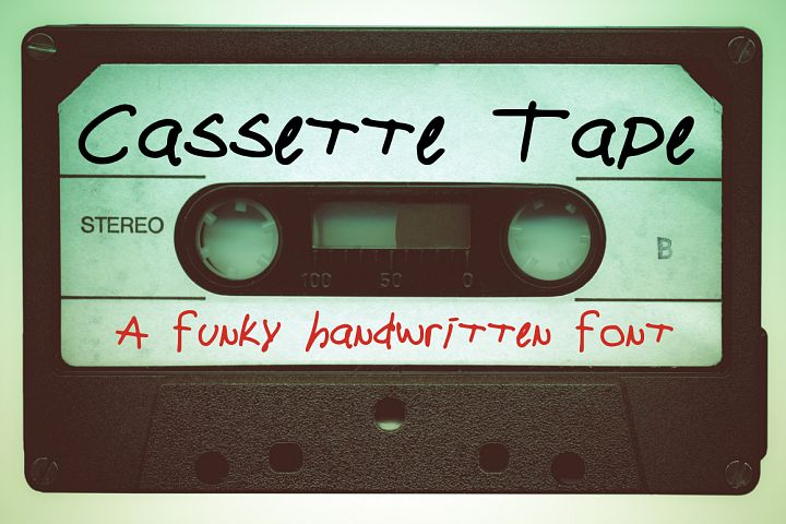 Cassette Tape a Funky Handwritten Font