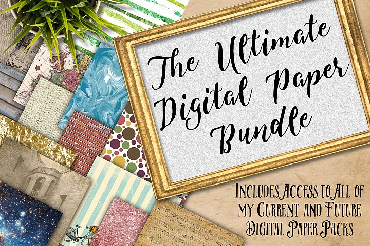 Digital Textures Scrapbook Paper Bundle - Includes All of my Current Digital Paper Designs AND Future Designs