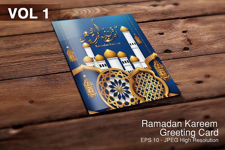 5 Ramadan Kareem, greeting background - VOL 1