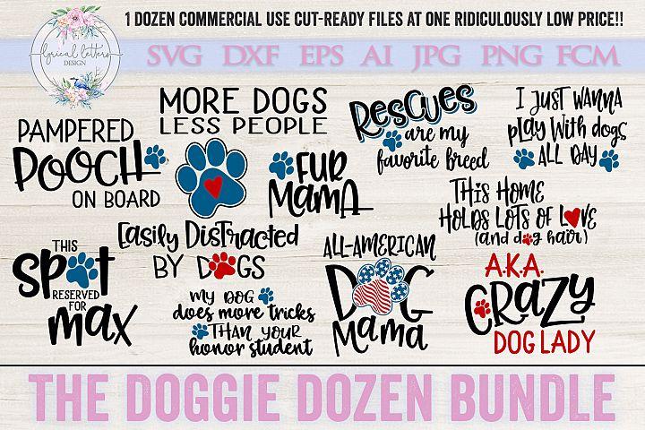 The Doggie Dozen Bundle of 12 Dog SVG Cut Files LL249