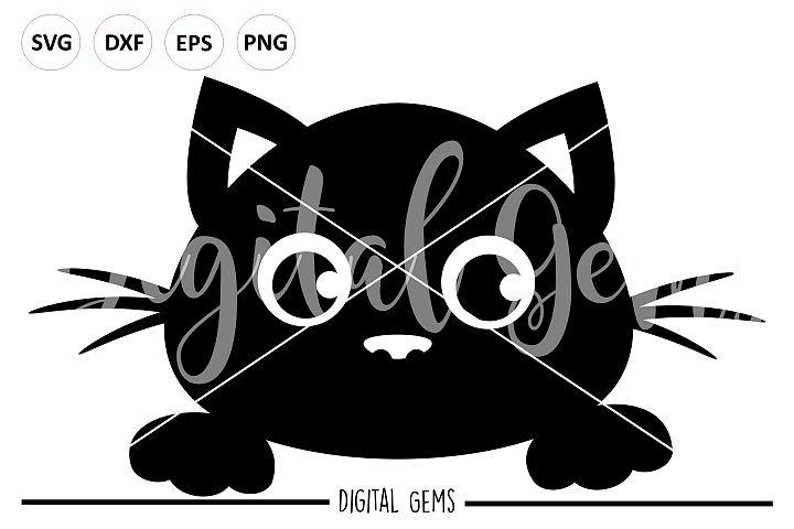 Black Cat peeping SVG / PNG / EPS / DXF files