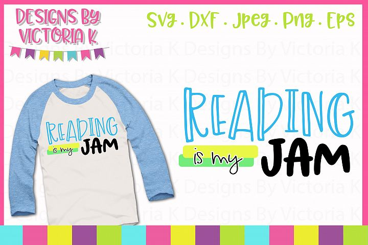 Reading is my jam, SVG, DXF, EPS, PNG