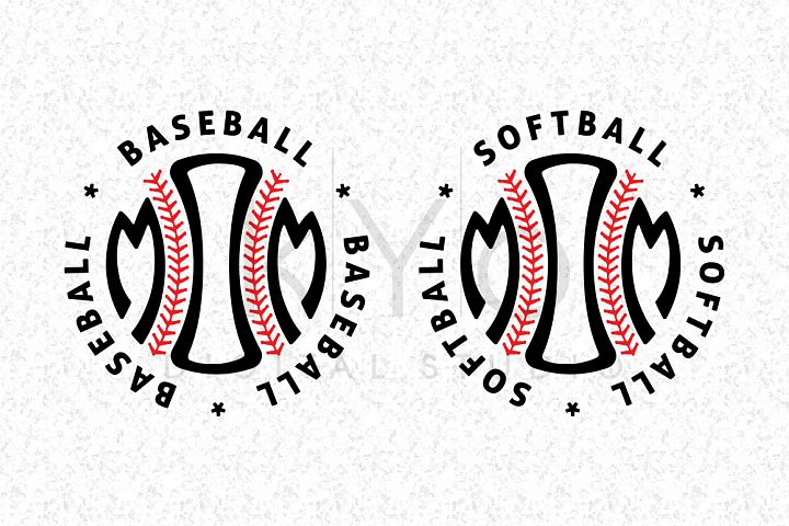 Baseball Mom Softball Mom SVG DXF PNG EPS files for Cricut Explore and Silhouette Cameo, Baseball emblem, Baseball badge