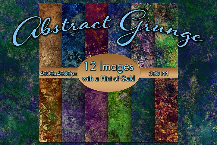 Abstract Grunge - 12 Images with a Hint of Gold