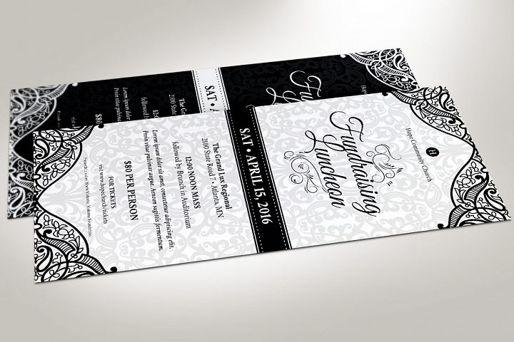 Black White Luncheon Flyer Template