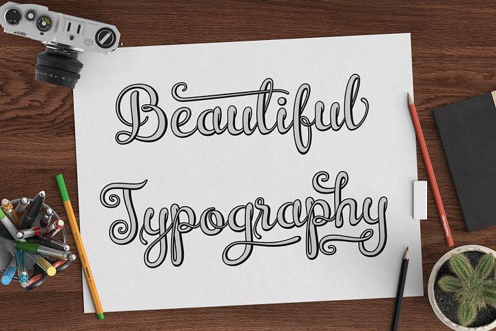 Brazilian Script (LAYERED FONT) - Free Font of The Week Design 10