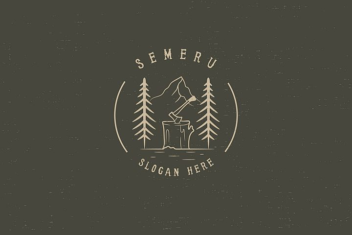 SEMERU Mountain - Logo Template