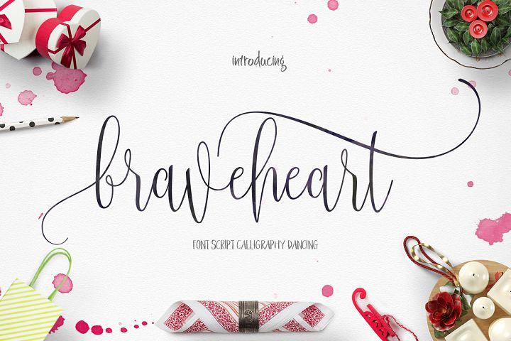 BraveHeart - Free Font of The Week