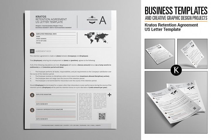 Kratos Retention Agreement US Letter Template